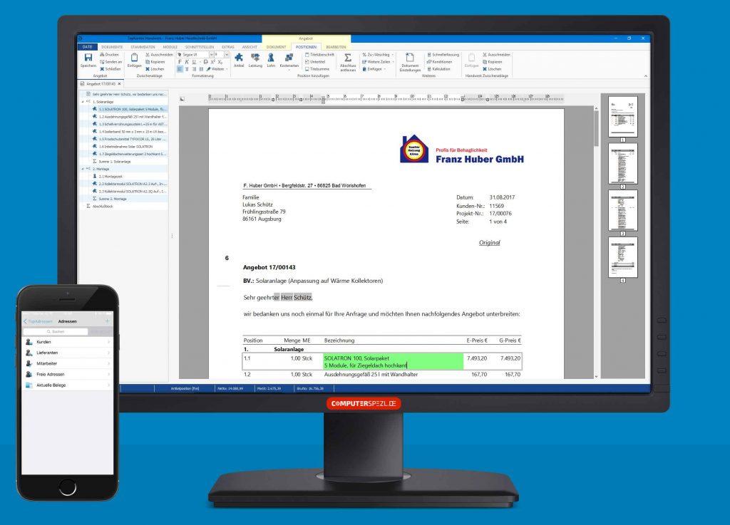 TopKontor Handwerk auf PC und Smartphone