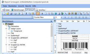 Bildschirmfoto - Reportgenerator