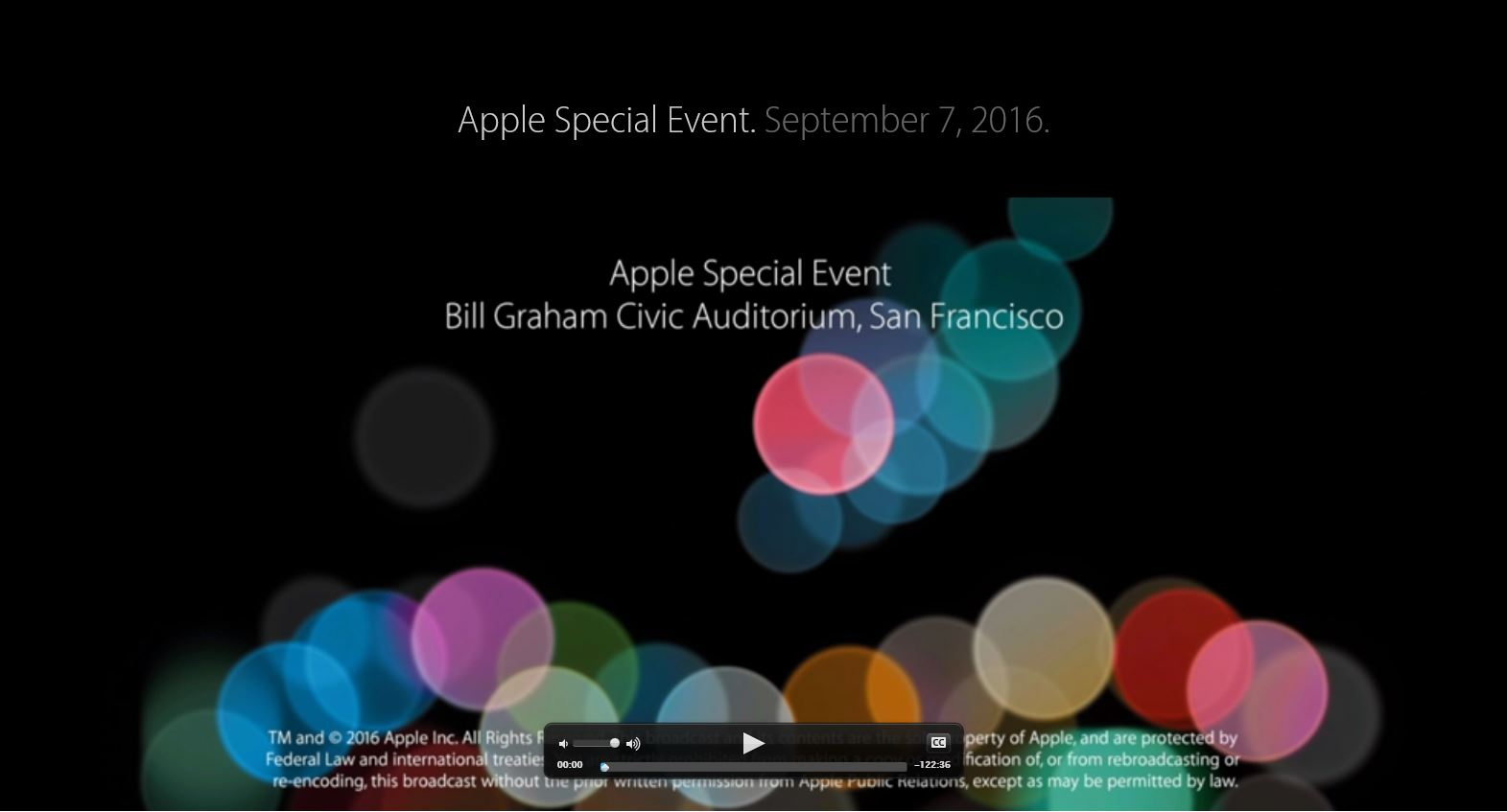 Apple Special Event Mitschnitt