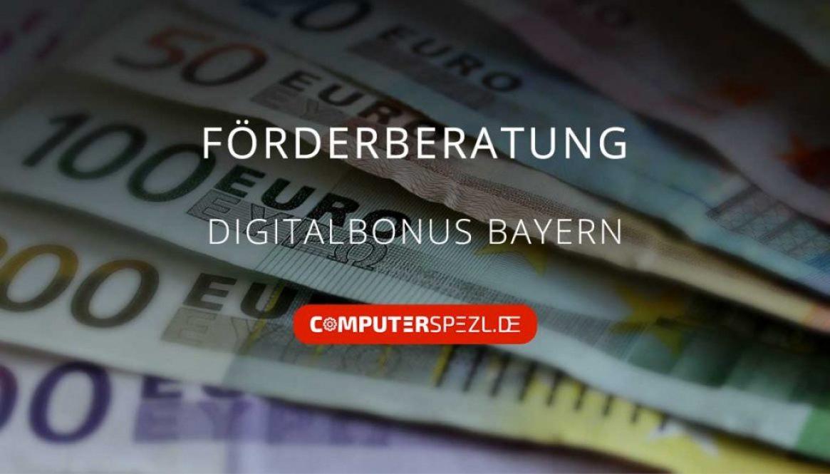 Digitalbonus Bayern und Geldnoten