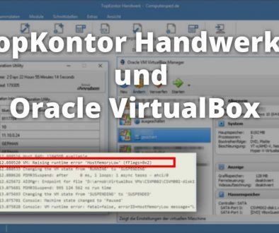TopKontor Handwerk 6 und Orracle Virtual Box