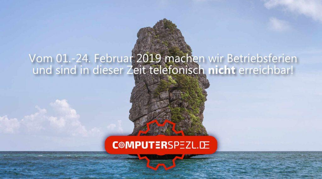 CS Betriebsferien 2019