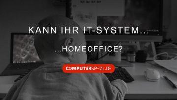 Beitragsbild: Kann Ihr Unternehmen Homeoffice? (Kleinkind am PC-Arbeitsplatz zuhause)